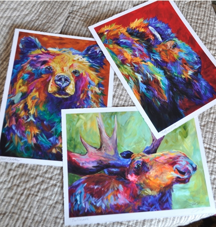 Prints on paper available with any giclée image. Image size varies depending on image chosen.