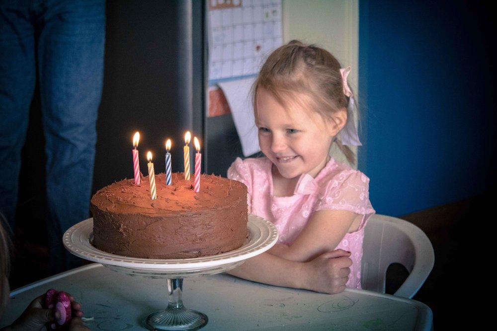 cake & candles -