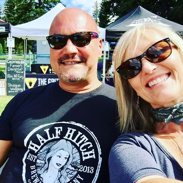 Look out Canmore, mom and dad are in town at @plaidgoat beer hub!  If you're in town for the festival make sure to swing by the beer gardens to say hello!  #canmore #beerhub #mountainbike #mountainbikefestival2017 #rockymountains #yyc