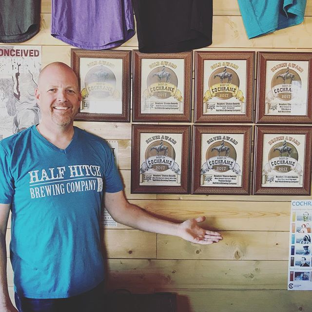 Wow!! Thank you to everyone who voted for us in the Best of Cochrane Awards!  We are so blessed to be a part of such a wonderful community!  A big big thanks to our restaurant man, Gradey!  We couldn't have done it without him.  And a big congratulations @braydonmoreso for being the 2nd best bartender in all of Cochrane!! 😜💜😘 #bestrestaurant2017 #bestburger #bestcustomerservice #bestbartender #bestuniquefooditem #poutineburger #chickenandwaffles #bestplaceforpubnight #bestliquorselection #cochrane #bestofcochrane #yyc #cochranealberta #craftbeer