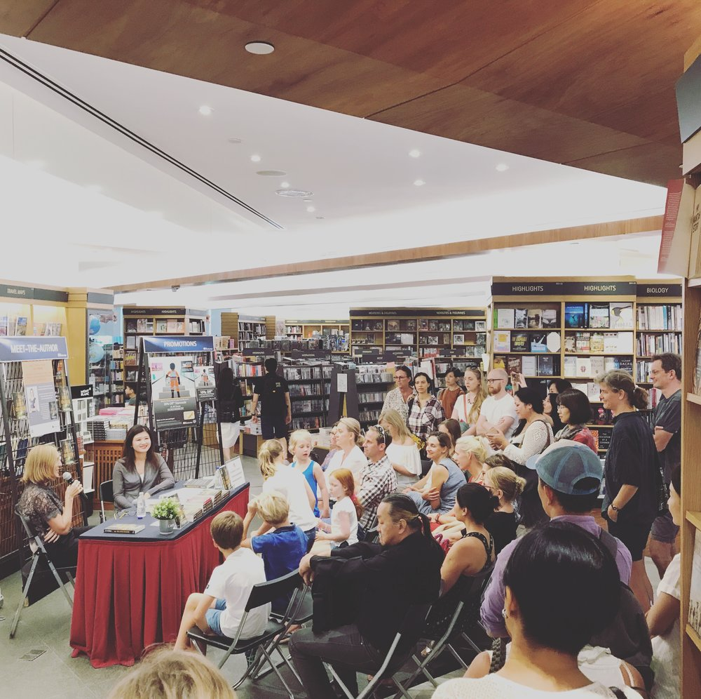 The Kinokuniya crowd