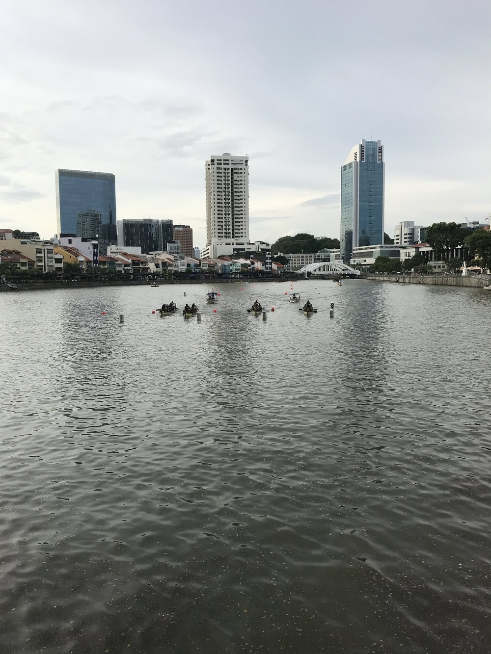 Alternative entertainment - dragon boat racing right outside the venue