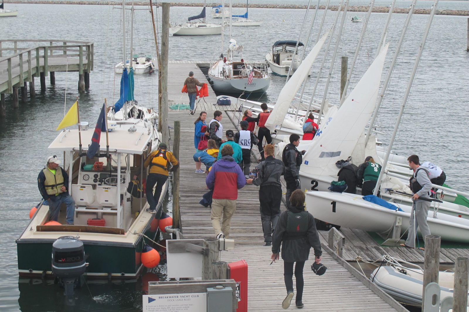on the dock at BYC