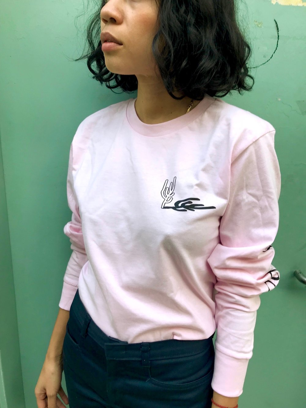 "New Sofia Bolt Long Sleeve Shirts available celebrating the release of the single ""Get Out of My Head."" Designed by Vanda Daftari and printed by E.S Serigraphy. - Printed on 100% Cotton Heritage Shirts$30"