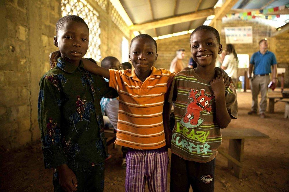 3 boys in the Togo church