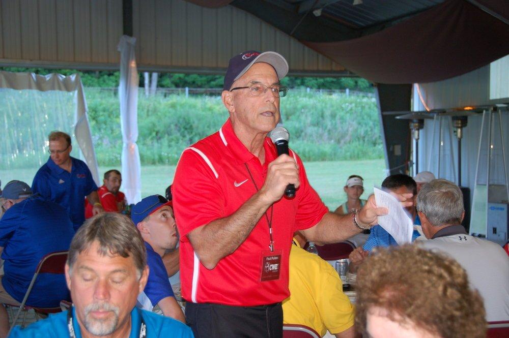 Paul Puleo speaks at fundraiser