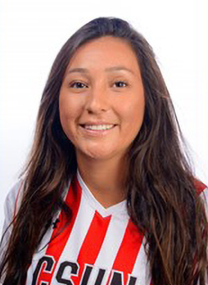 Senior midfielder had an impressive weekend as she scored a golden goal for Cal State Northridge in both the 1-0 OT victory against Pacific and the 2-1 OT victory against Sacramento State. Her offensive exploits were recognized as she was named Big West Offensive Player of the Week.