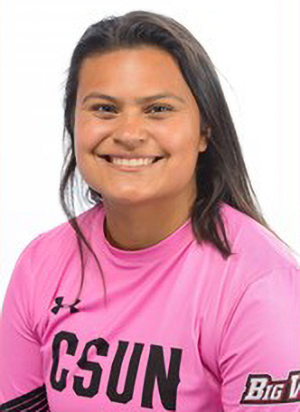 Freshman goalie started the first two games of her career and posted back to back OT victories for Cal State Northridge in a 1-0 win against Pacific and a 2-1 win against Sacramento State. Her stellar performance resulted in her being name Big West Defensive Player of the Week