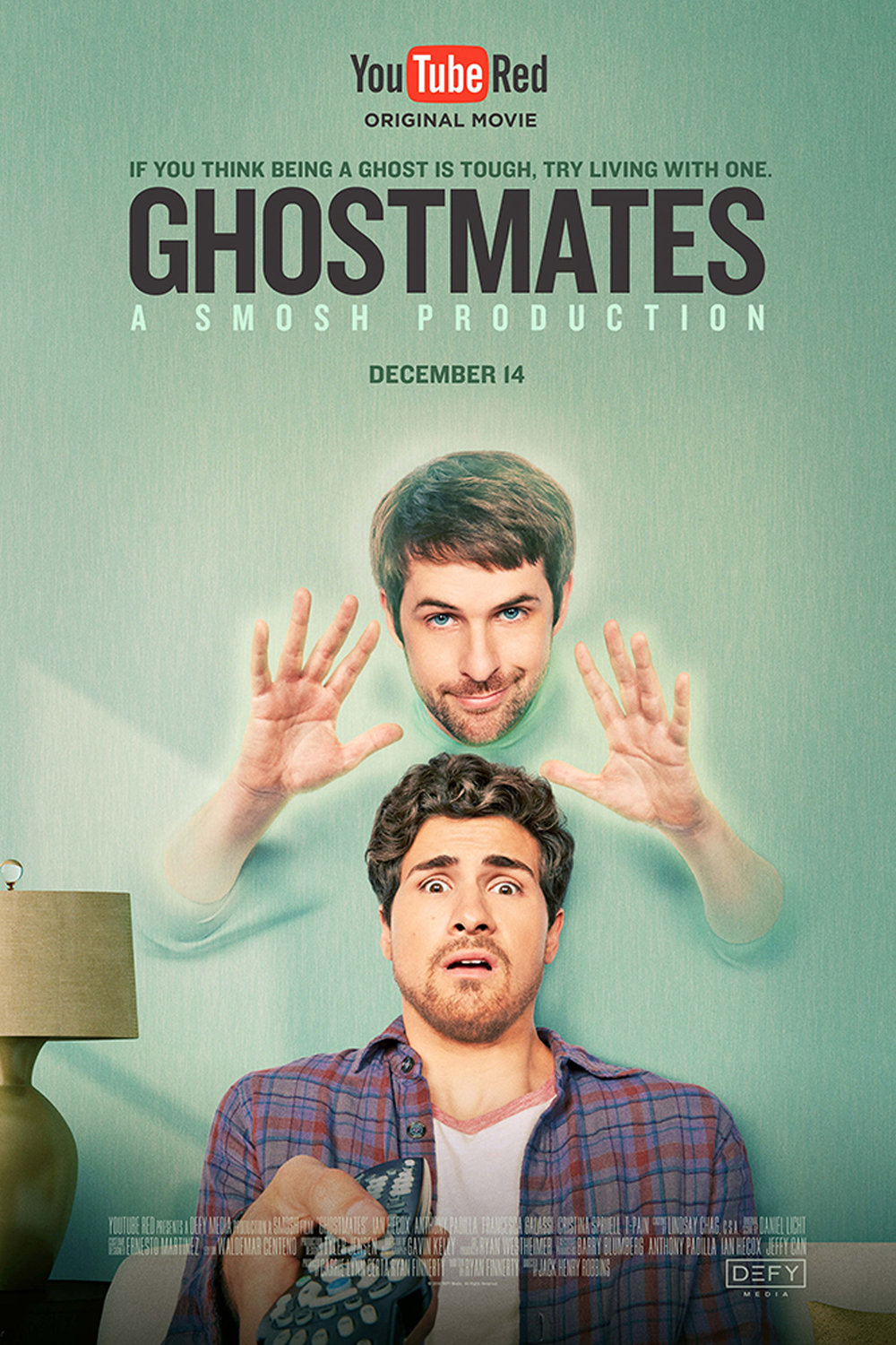 GHOSTMATES   Feature Film, Comedy  Studio/Network - Youtube Red/Google  Director - Jack Henry Robbins  Editor - Waldemar Centeno  *2017 Streamys - Nominated Best Feature Film