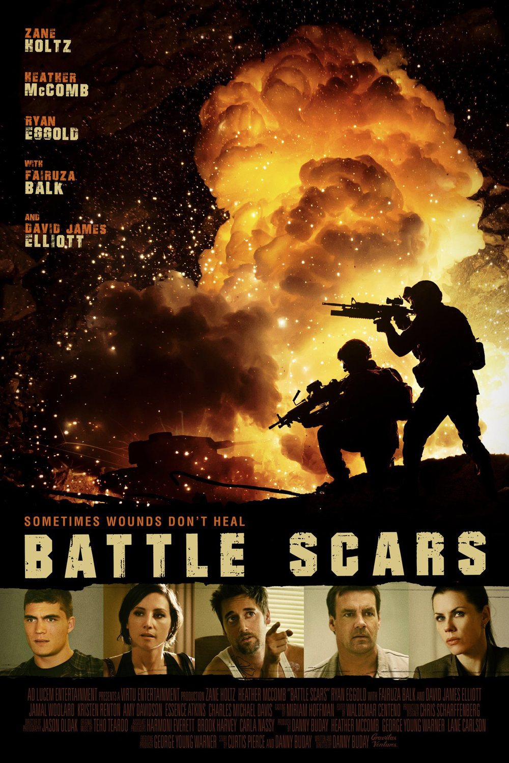 BATTLE SCARS   Feature Film, Drama/War  Studio - Gravitas Ventures  Director - Danny Buday  Editor - Waldemar Centeno