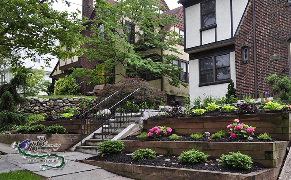 Front Yard Landscape Design, Garfield NJ