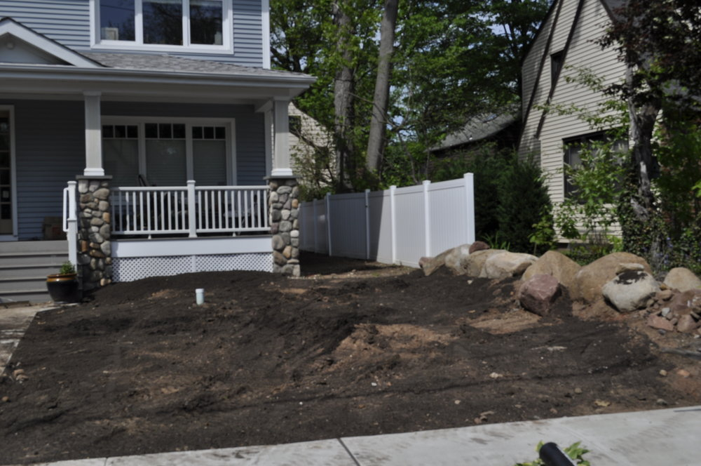 Compost application, Landscape Install
