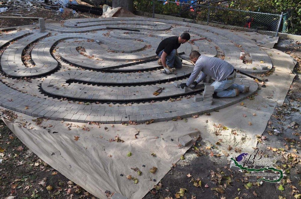 Trinity Labyrinth Paver Installation