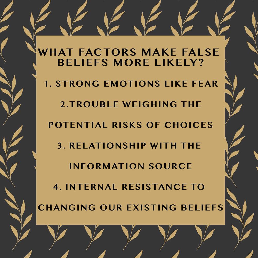 false beliefs fear emotion risks choices
