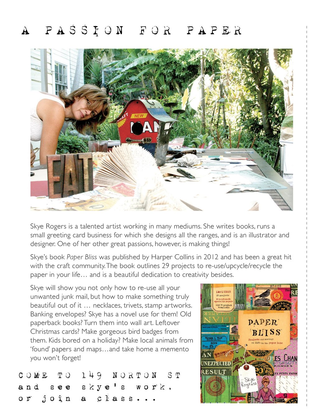 Press article for Stitches and Craft Fair