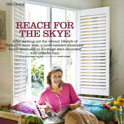 ARTICLE IN AUSTRALIAN HOUSE & GARDEN (photo by Maree Homer)
