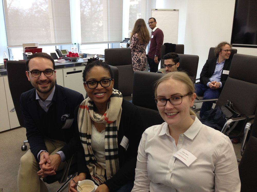 Frankfurt, Germany with American Law Firm Employees @ Latham & Watkins This was the first event held by the German Fulbright Commission's Diversity Initiative Team. I learned about the experiences and stories of German minority students and young professionals negotiating their dual cultural identities in a country that continues to come to terms with what it means to be German exactly.