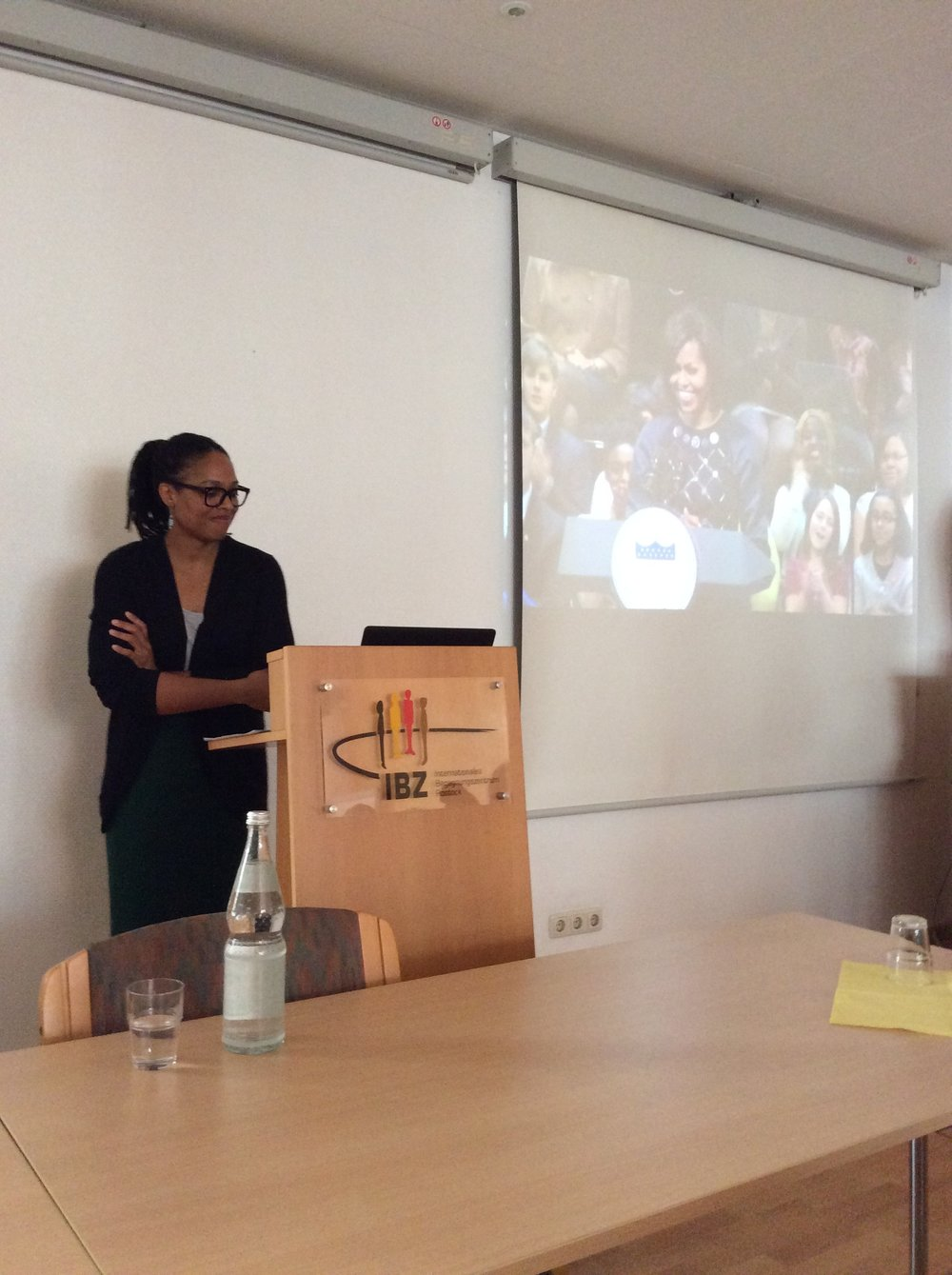 "Universitäst Rostock The U.S. Embassy Berlin invited me to give a lecture on ""Internationalization and Diversification: Providing Educational Opportunities for Minority Students: A Personal Approach,"" as part of the Teach about the USA initiative."