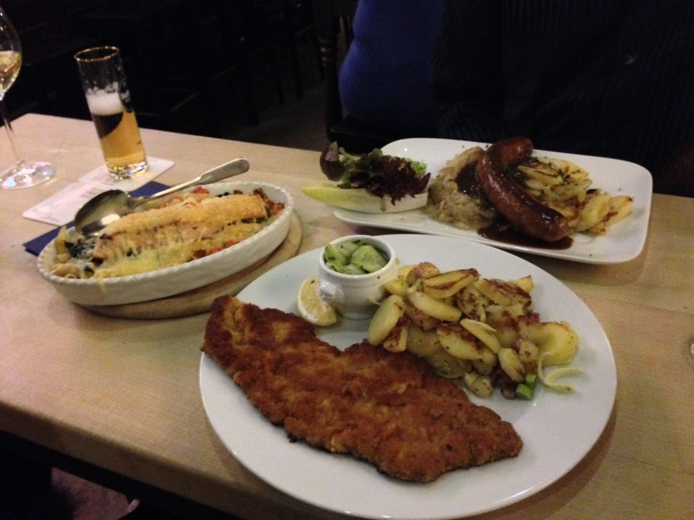 My favorite German dish is schnitzel with potatoes and salad. I want to try something new, but when it's time to order, Wienerschnitzel comes out! :) What's your favorite?