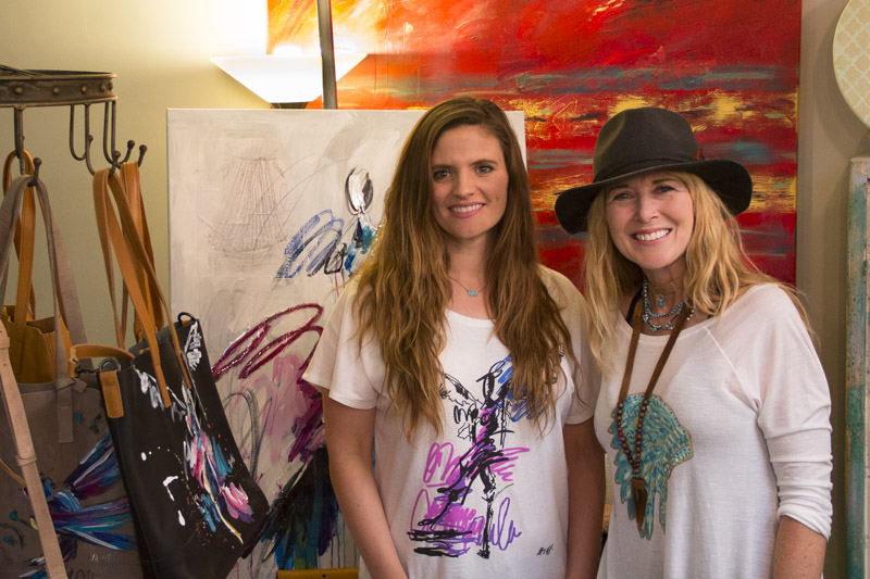 Ash Alamonte on the left, Tammey Stokely, owner of Teal Sky Studio on the right.