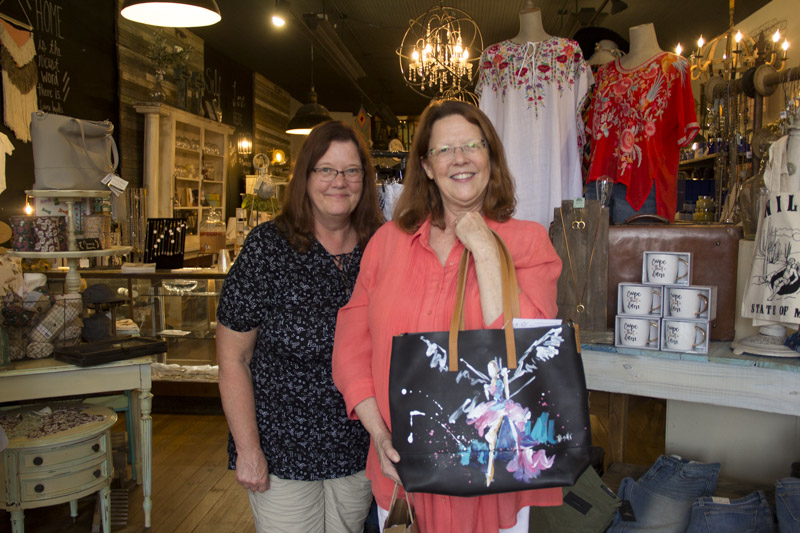 Proud new owner of one of Ash Alamonte's painted leather handbags!