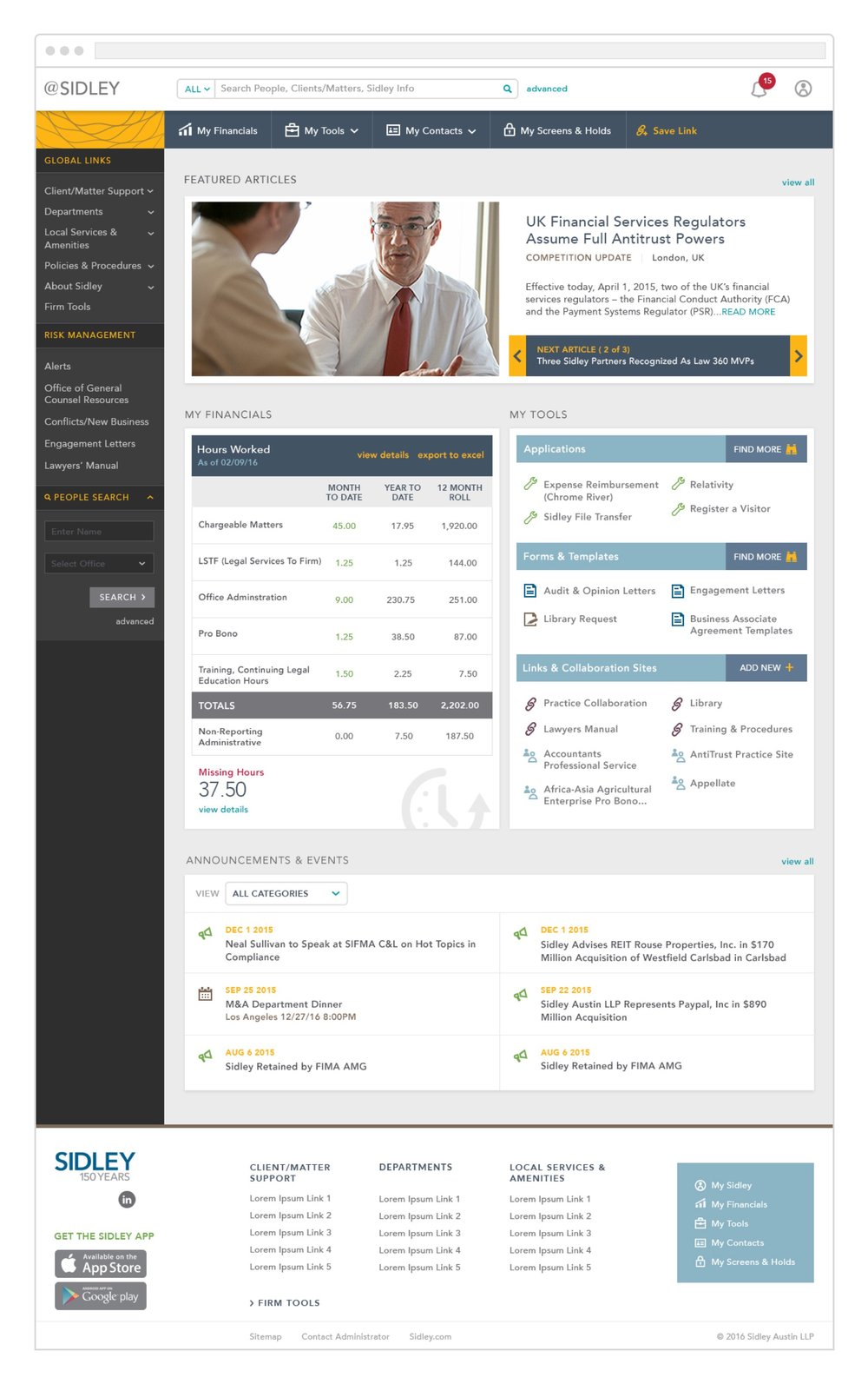 Home Dashboard for Lawyers