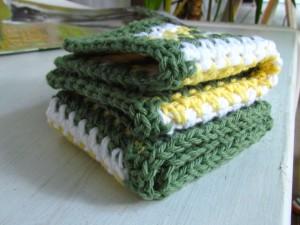 Cotton Crochet Dishcloths Free Pattern
