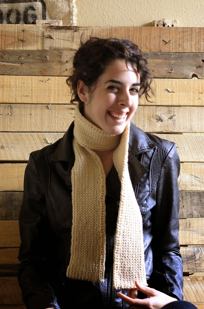 easy crochet ribbed scarf pattern