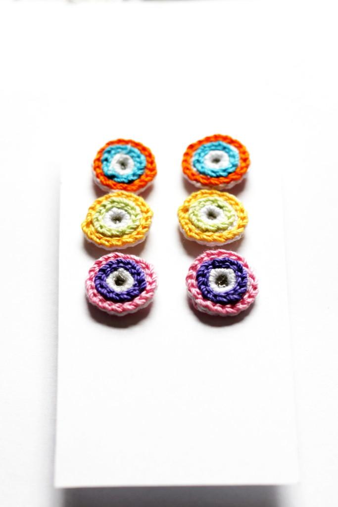 Assorted Crochet Stud Earrings