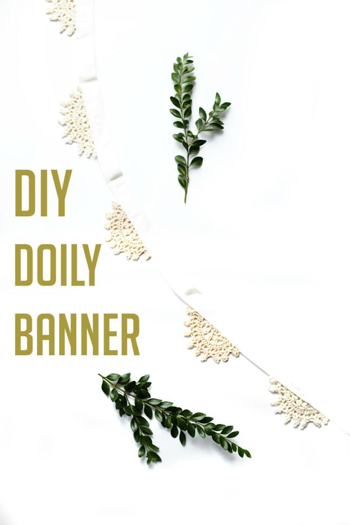 DIY Doily Banner