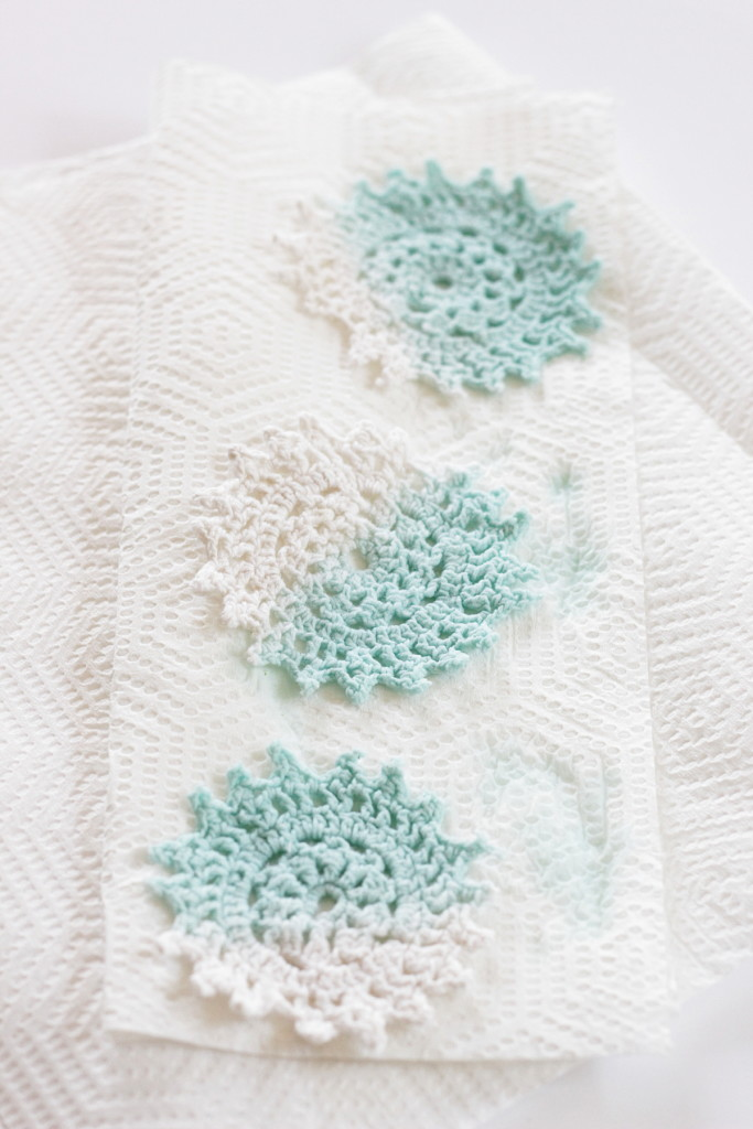 Easy Dip Dyed Doilies