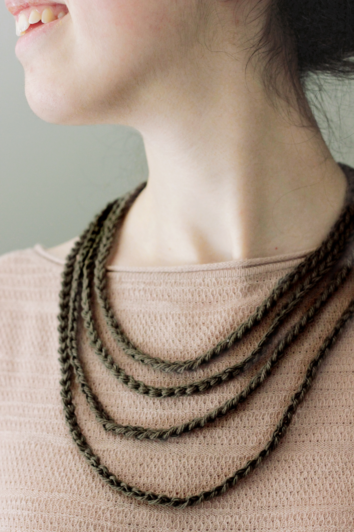 Textile Multistrand Necklaces
