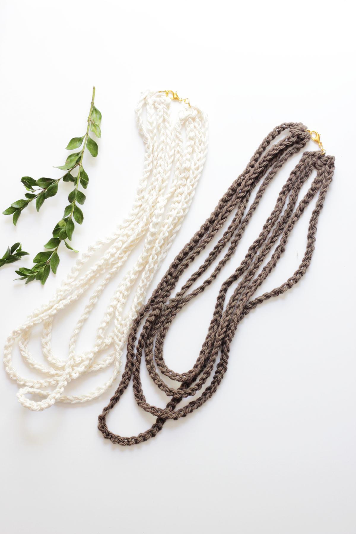 Textile Multistrand Necklaces