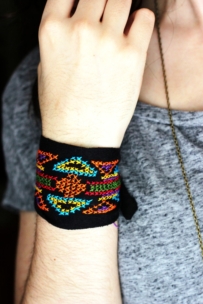 Embroidered Tribal Cuff