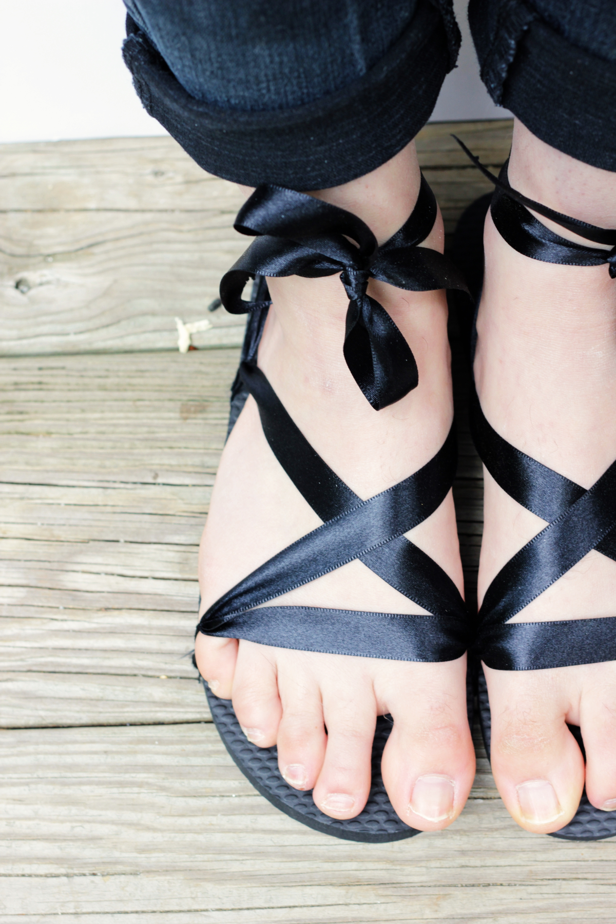 Ribbon Sandals DIY