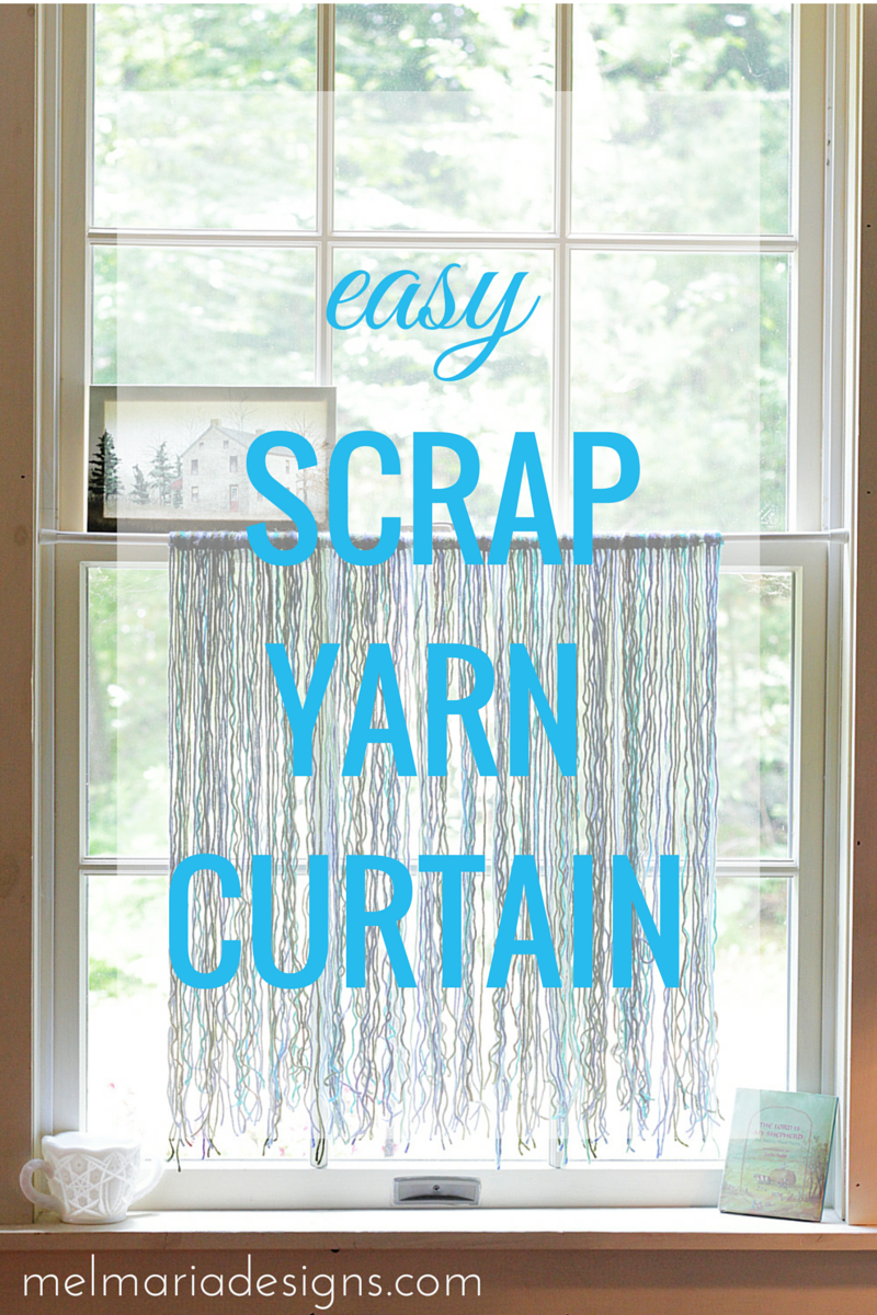 Easy Scrap Yarn Curtain