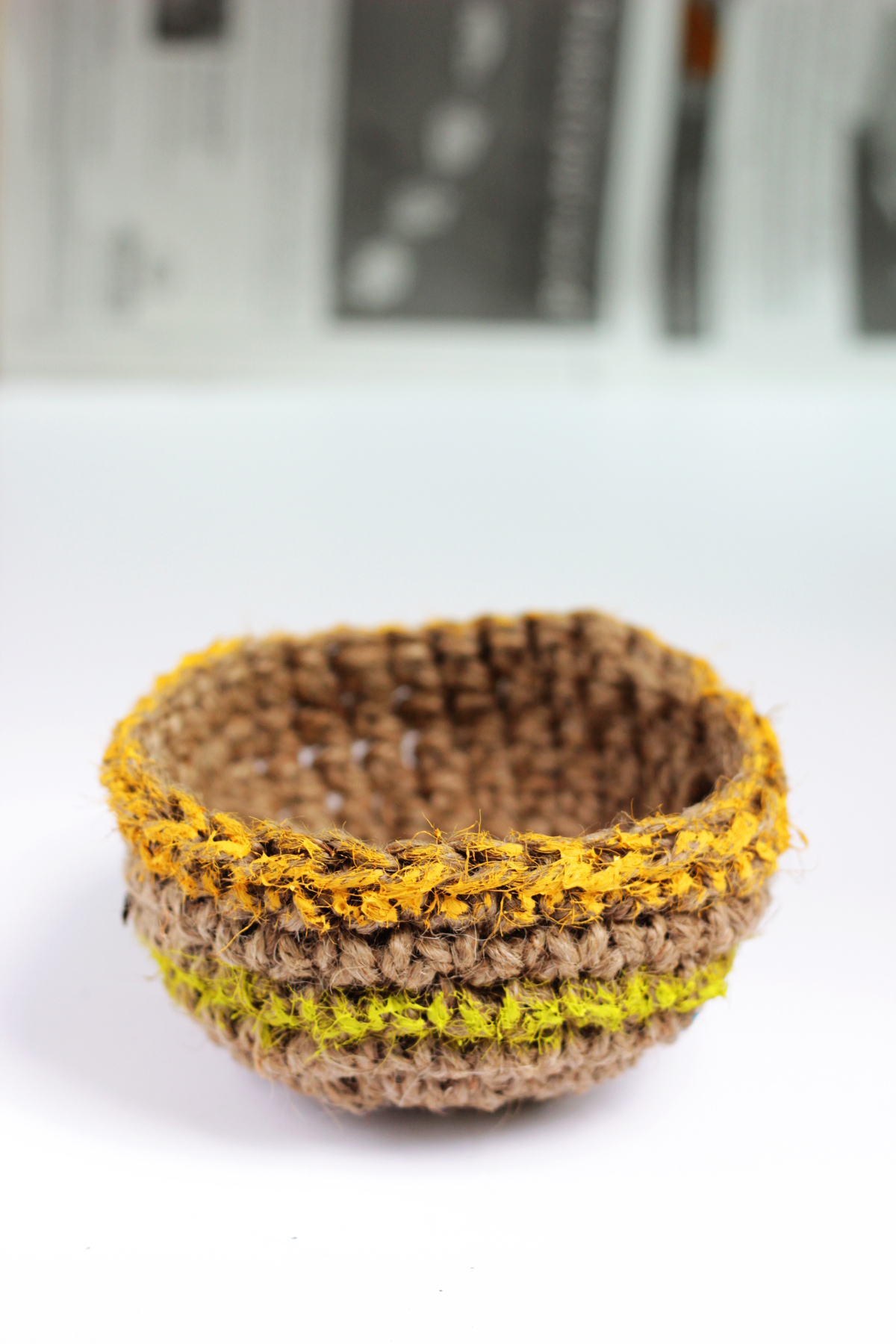 Rustic Crochet Stacking Baskets