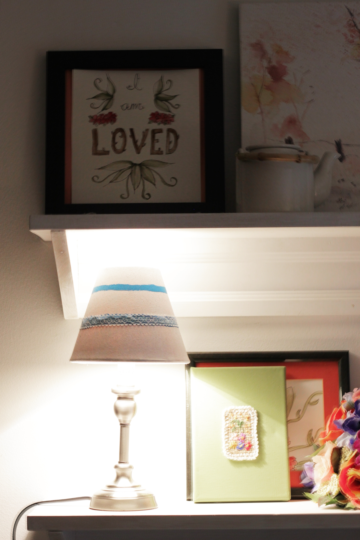 Thrifted Lampshade DIY