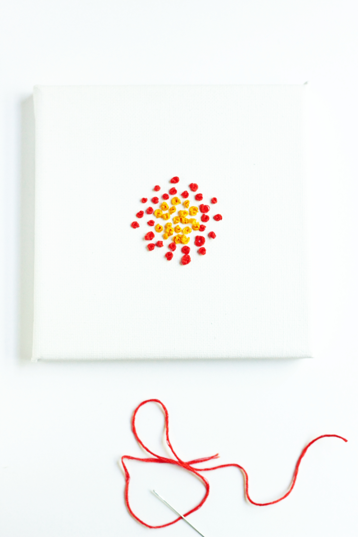 Easy Embroidered Canvas Wall Art