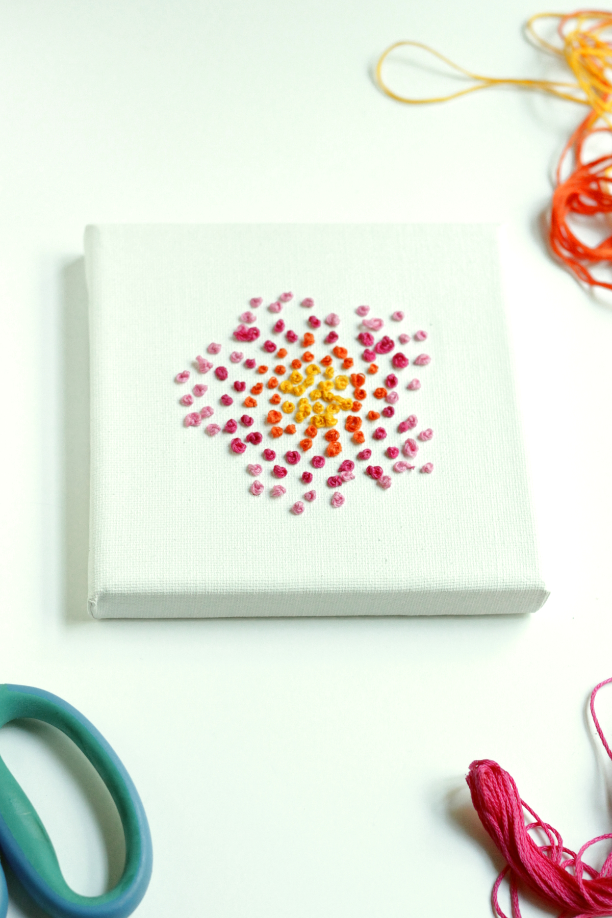 Easy Embroidered Wall Art
