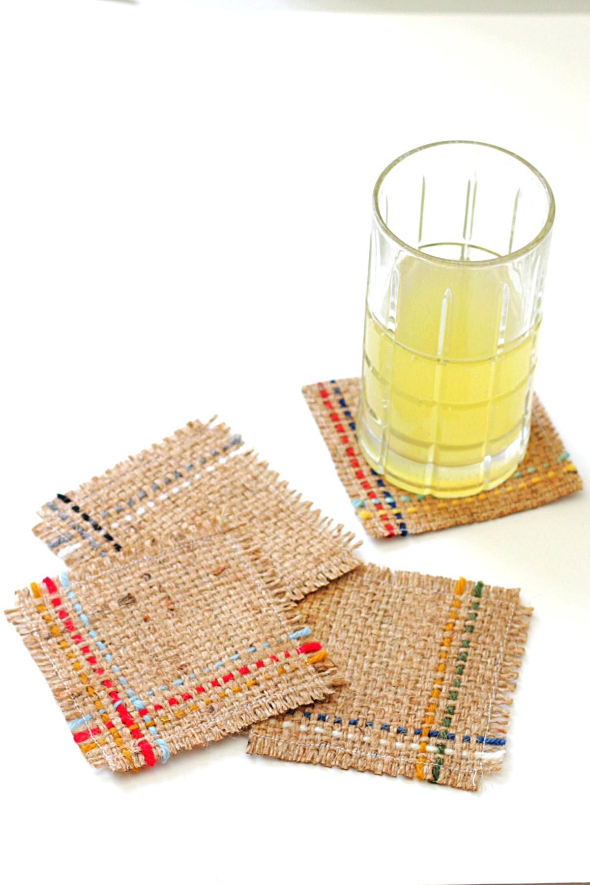 Easy DIY Woven Coasters