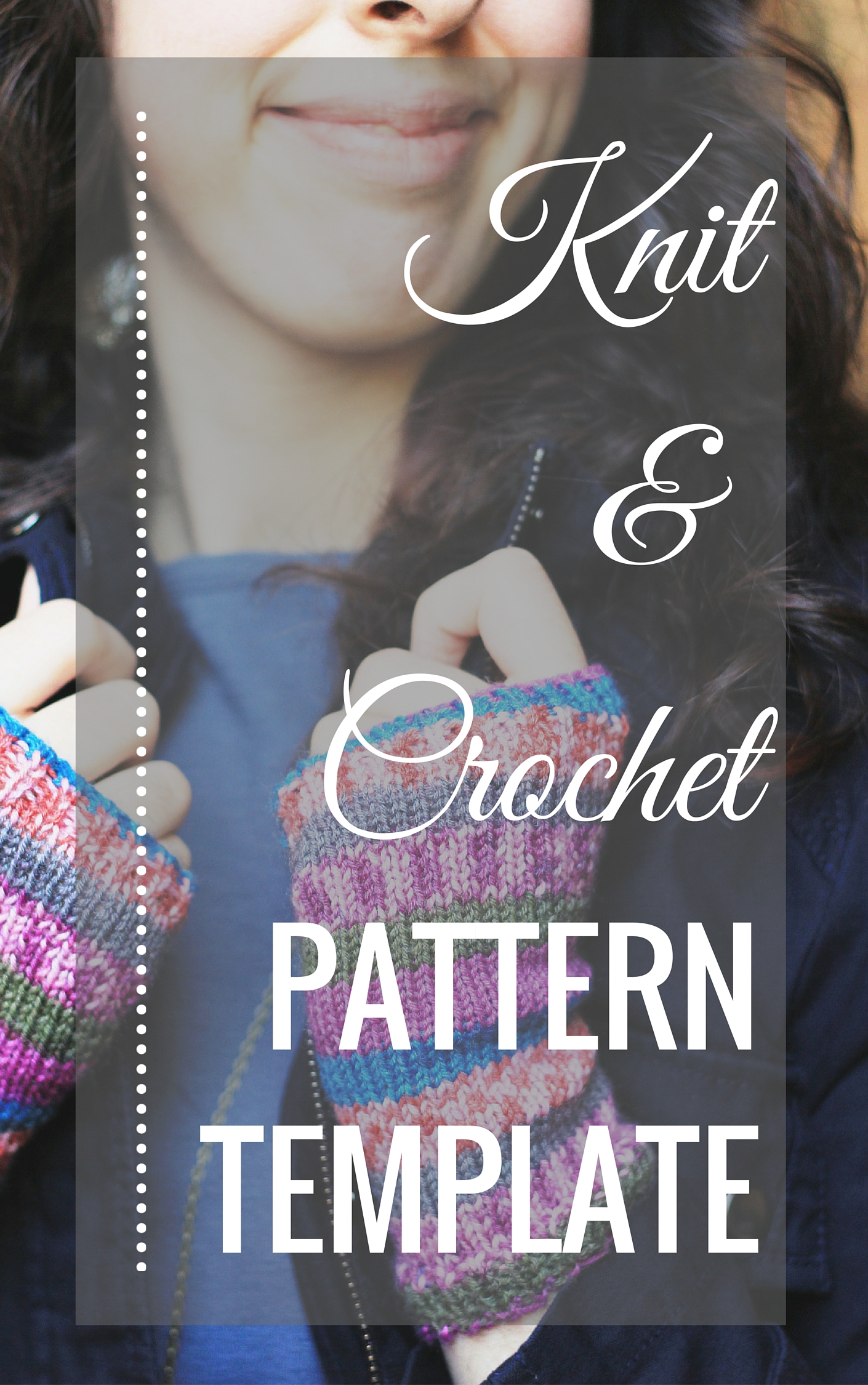Knit and Crochet Pattern Template