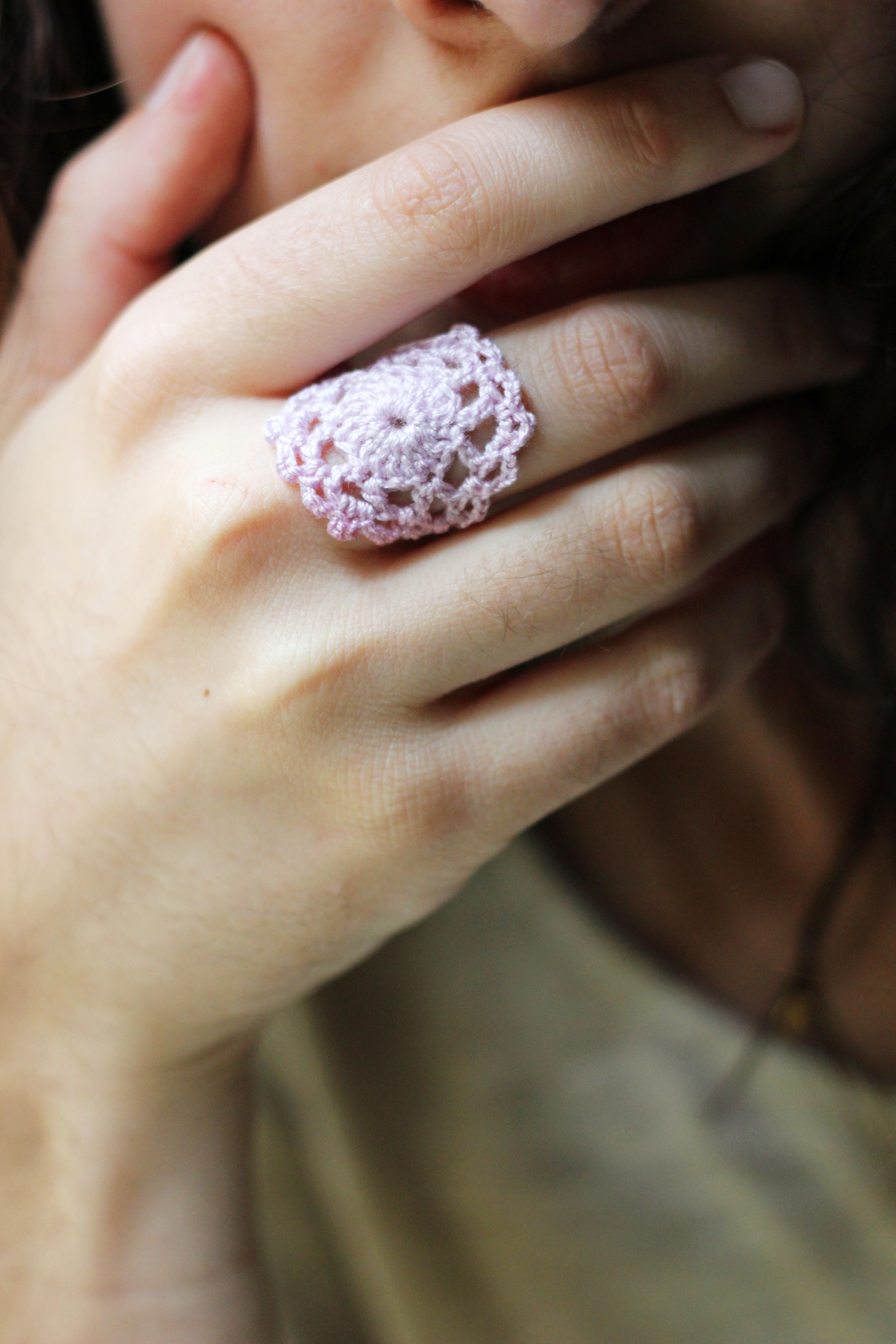 hand dyed lace rings from melmaria designs