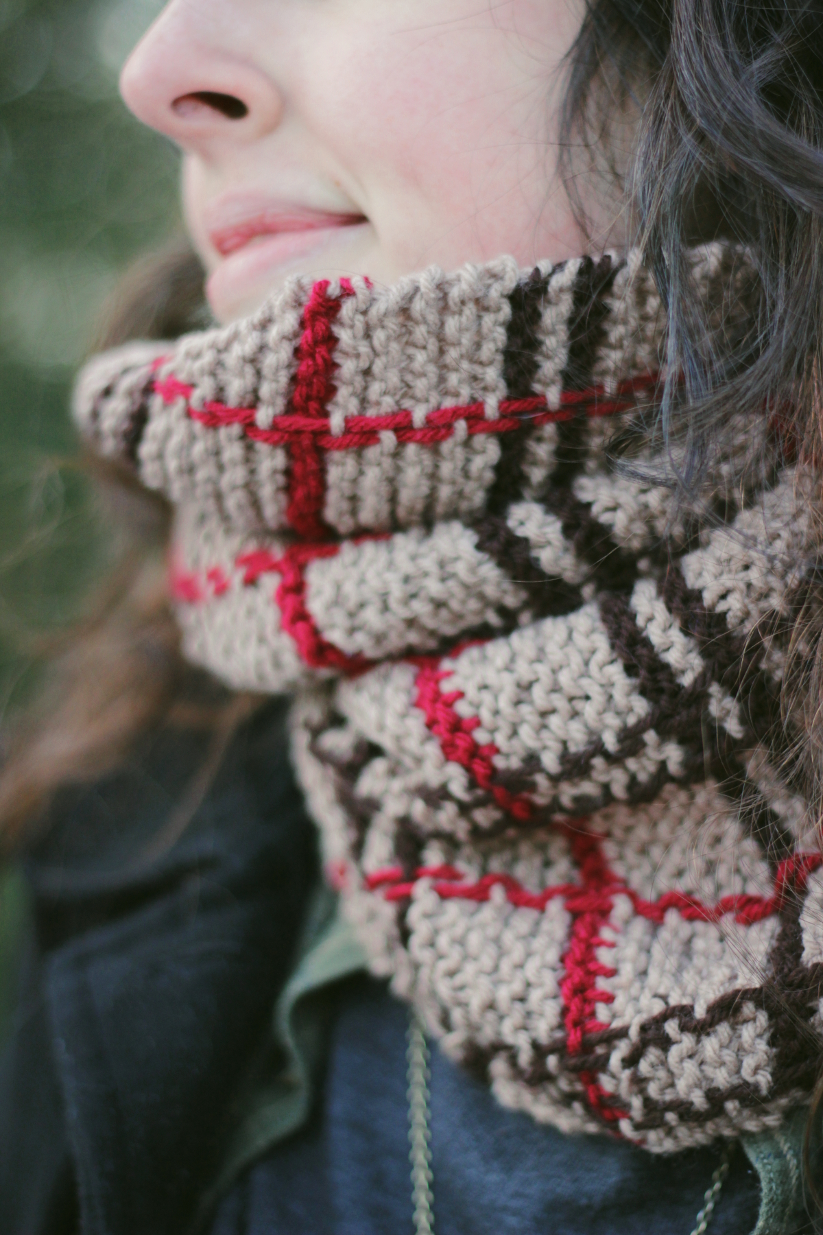 Folk Plaid Scarf