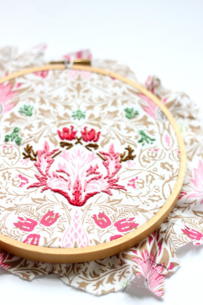 hand embroidered hoop art