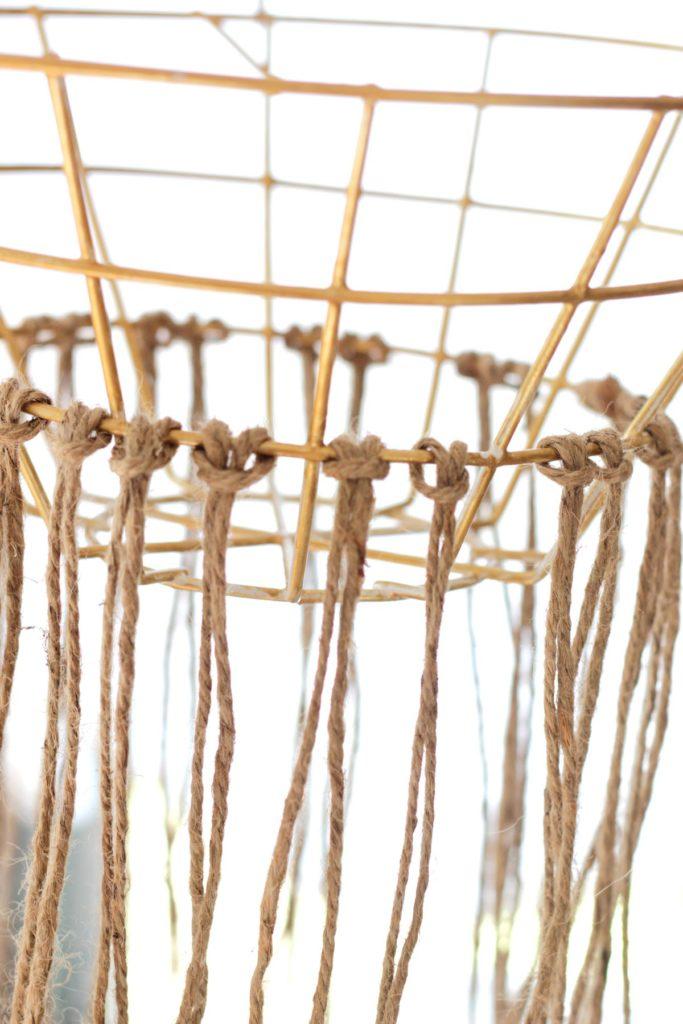 DIY Macrame Hanging Chandelier