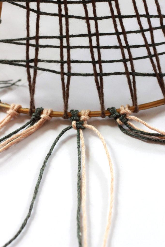 DIY Woven Lampshade