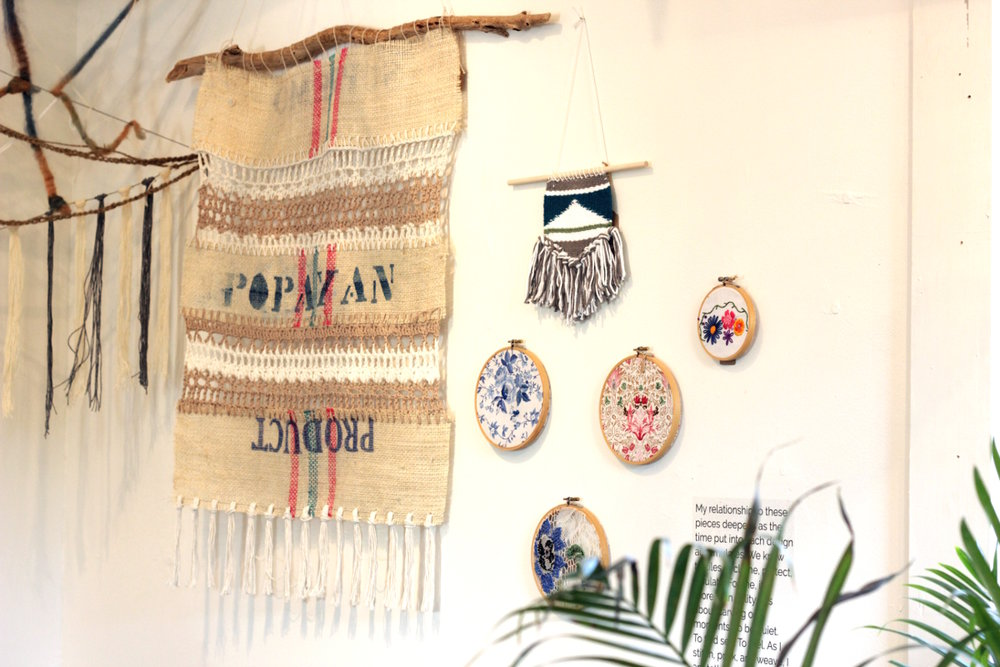 apotheca fiber art display