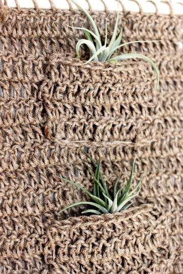 crochet twine plant hanger