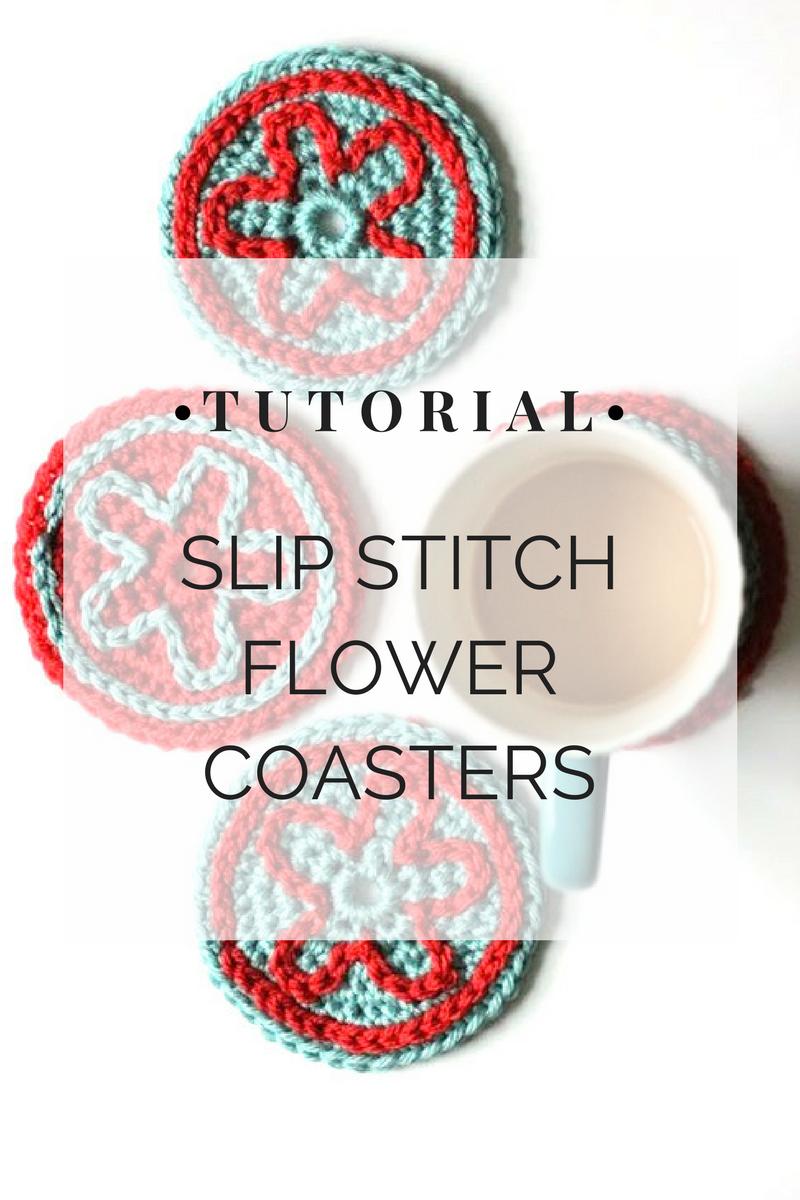 Slip Stitch Flower Coasters